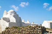 Old church of Panagia Paraportiani at Mykonos island in Greece — Stock Photo