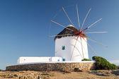 Mykonos island, yunanistan güzel yel değirmeni — Stok fotoğraf