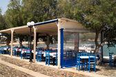 Geleneksel yunan tavernası milos island, yunanistan — Stok fotoğraf
