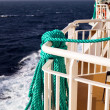Lifestring on cruise ship at Aegean sea — Stock Photo #27810225