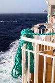 Lifestring on cruise ship at Aegean sea — Stock Photo