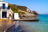 Traditional fishing village on Milos island, Greece — Stock Photo