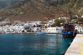 カマレス シフノス島、ギリシャの港のパノラマ ビュー — ストック写真