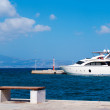 Cruise ship at Naxos port, Greece — Stock Photo