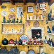 Detail image from a greek touristic shop on Mykonos island, Gree — Stock Photo