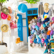 Detail image from a greek touristic shop on Mykonos island, Gree — Stock Photo #28249673