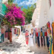 Detail image from greek touristic shop on Mykonos island, Gree — Stock Photo #28250063