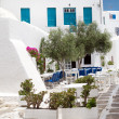 Stock Photo: Traditional greek tavern on Sifnos island, Greece