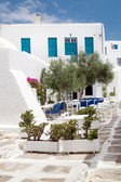 Geleneksel yunan tavernası sifnos island, yunanistan — Stok fotoğraf