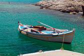 Traditional fishing boat on Milos island, Greece — Stock Photo