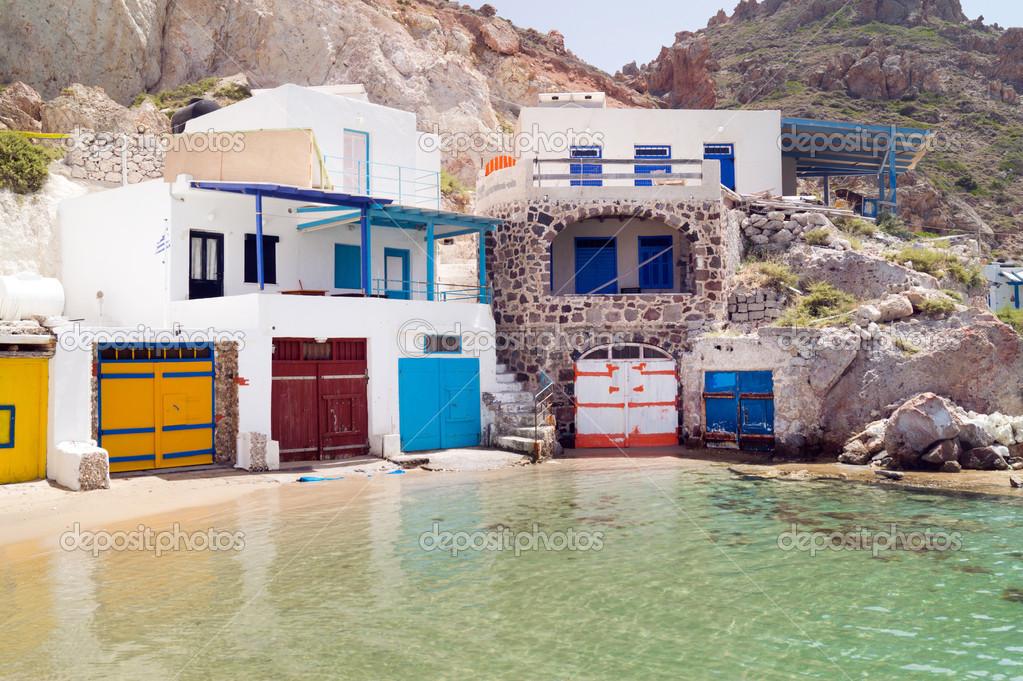 Домик в остров Ситония в деревне