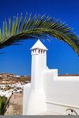 традиционный греческий дом на острове миконос, греция — Стоковое фото