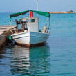 Traditional fishing boat in Greece — Stock Photo
