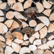Stock Photo: Fire wood stock for winter