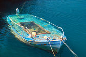 Traditional fishing boat at Lefkada island in the water, Greece — Stock Photo