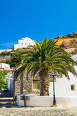 Belfry at blue sky on Santorini island, Greece — Stock Photo