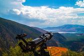 Telescope on tripod located in Delphi, Greece — Stock Photo