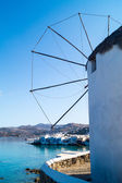 Beautiful windmill on Mykonos island, Greece — Stock Photo