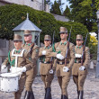 Постер, плакат: BUDAPEST June 11: Guards of honor at the Presidential palace o