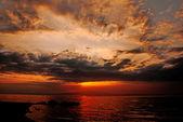 Sunset at famous Mykonos island, Greece — Stock Photo