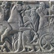 Greek ancient alike plaque at Great Alexander monument at Thessa — Stock Photo #41034969