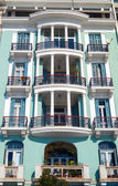Historic building located at Thessaloniki city in Greece. Area — Stock Photo