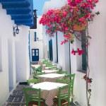 Traditional greek tavern on Sifnos island, Greece — Stock Photo #43992057