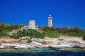 Panoramic view of famous lighthouse at Lefkada, Ionian sea, Gree — Stock Photo