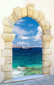 Traditional architecture on Mykonos island, Greece — Stock Photo