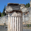 Single ionic order capital at Delphi archaeological site in Gree — Stock Photo #50957635