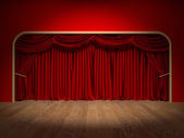 Theatre Curtains — Stock Photo