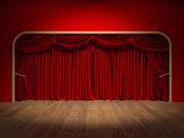 Theatre Curtains — Stock Photo