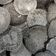 Silver coins — Stock Photo