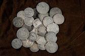 серебряная монета — Стоковое фото