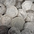 Silver coins — Stock Photo #35977431