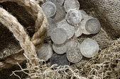 Silver coins — Stock Photo