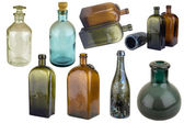 Antiquarian glass bottle — 图库照片