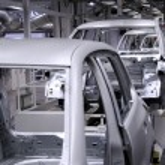 Conveyer in factory — Stock Photo