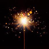 Cierge magique de noël avec des reflets brillants — Photo