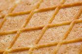 Waffle textura closeup — Foto de Stock