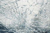 Broken window of an car — Stock Photo