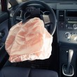 Airbag explodes on steering wheel — Stock Photo #13414881