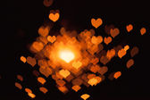 Abstract bokeh hearts — Stock Photo