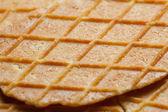 Waffle texture closeup — Stock Photo