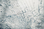 Broken window after car crash accident — Stock Photo
