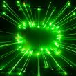 Stock Photo: Abstract green lights frame
