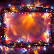 Stock Photo: Party lights frame