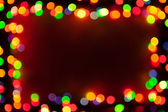 Bokeh lights frame — Stock Photo
