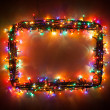 Christmas lights frame — Stock Photo #15701603