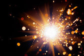 Festive sparkler — Stock Photo